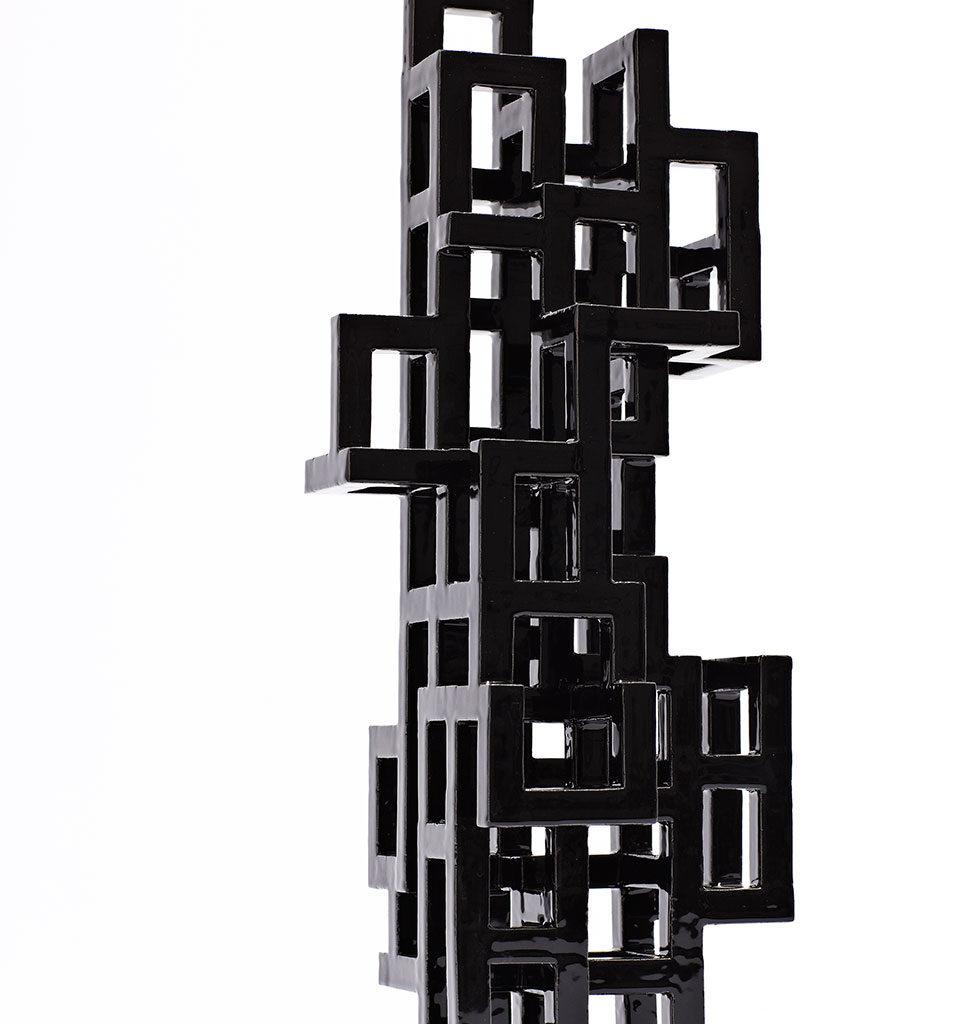 Black Geometric 1/2012 Height 51 cm.