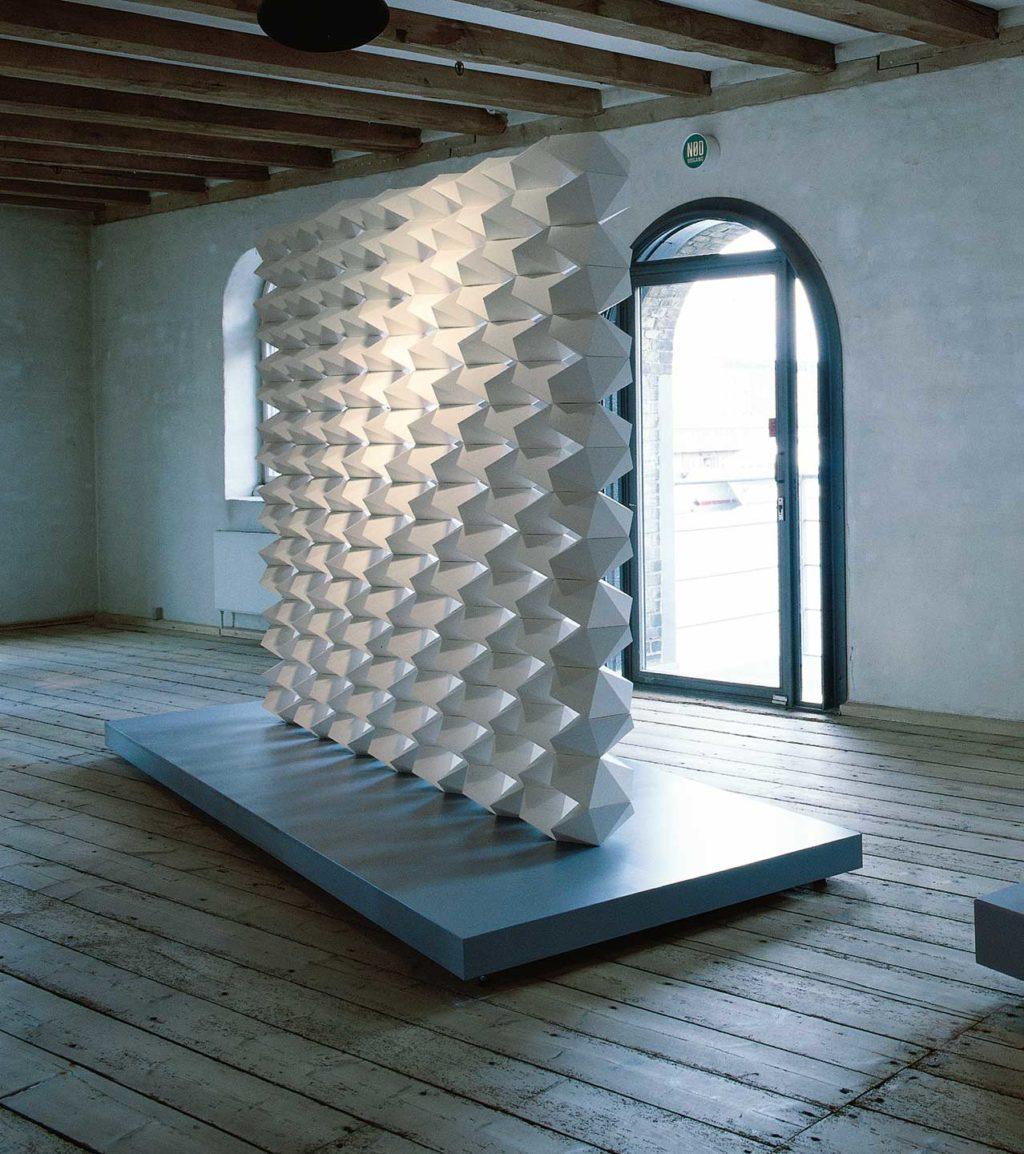 Room divider. Modular system/1996 Height 220 cm.
