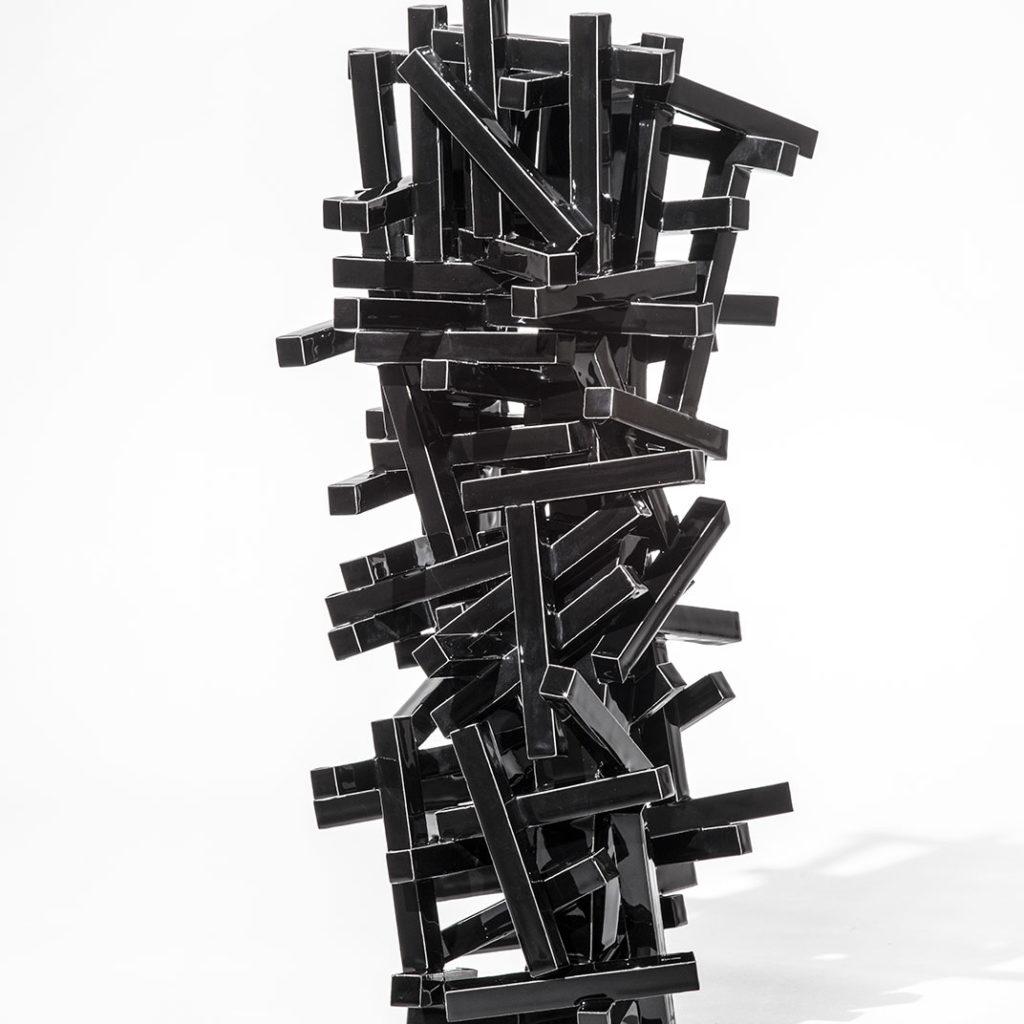 Black Geometric 7/2012 Height 55 cm.