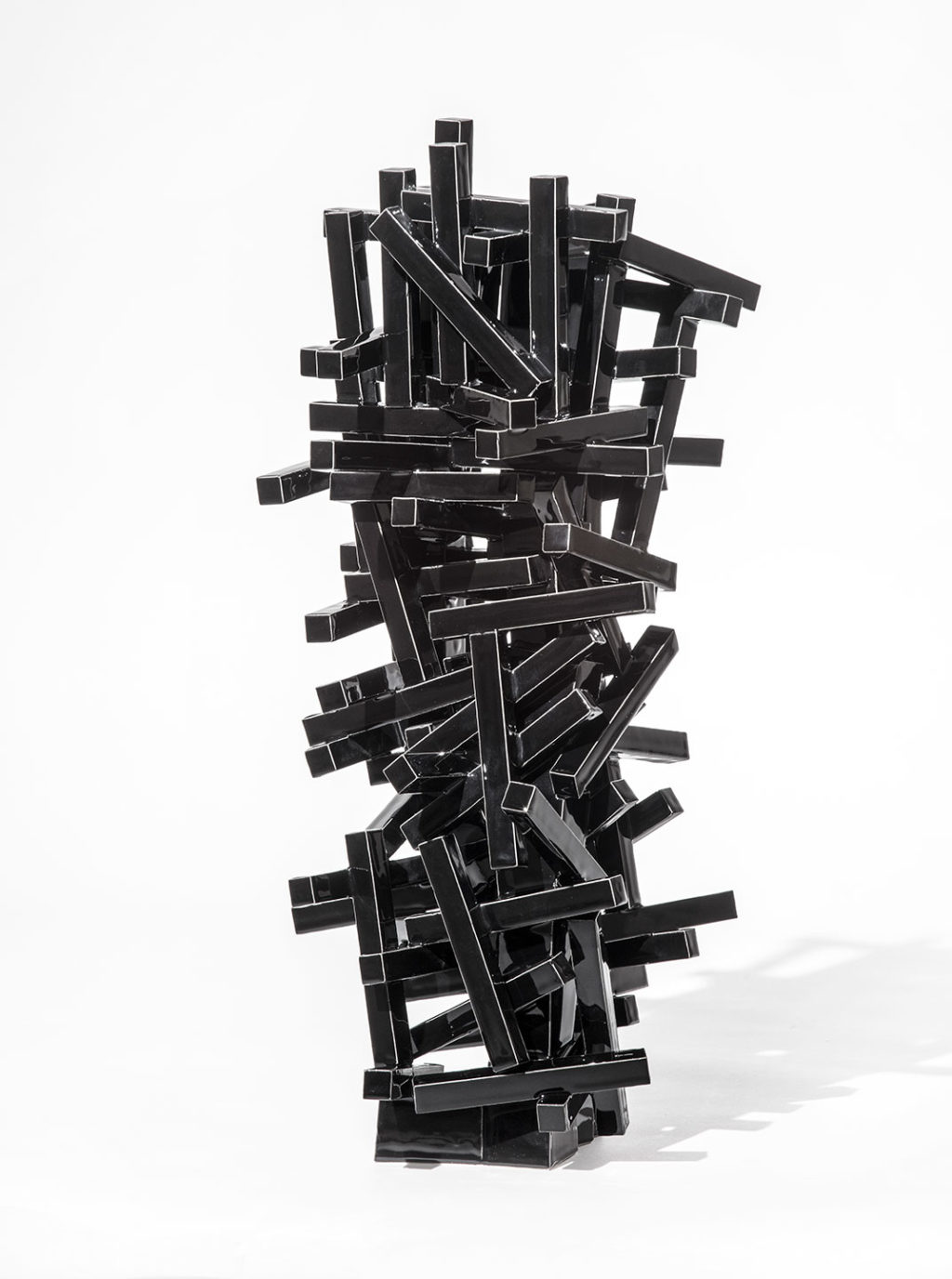 Black Geometric 7/2012 Height 55 cm.
