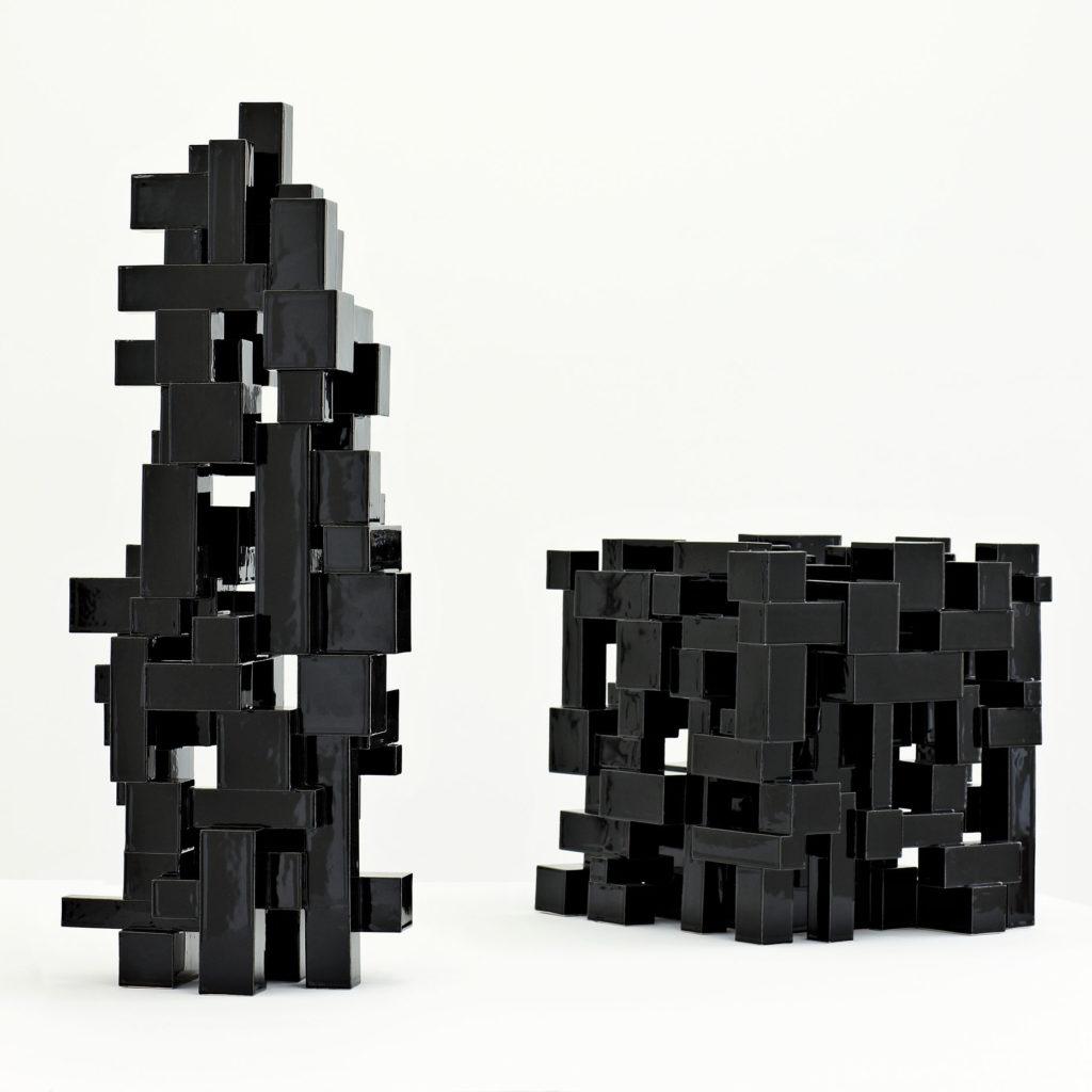 Black Geometric 8+9/2012 Height 71 cm.