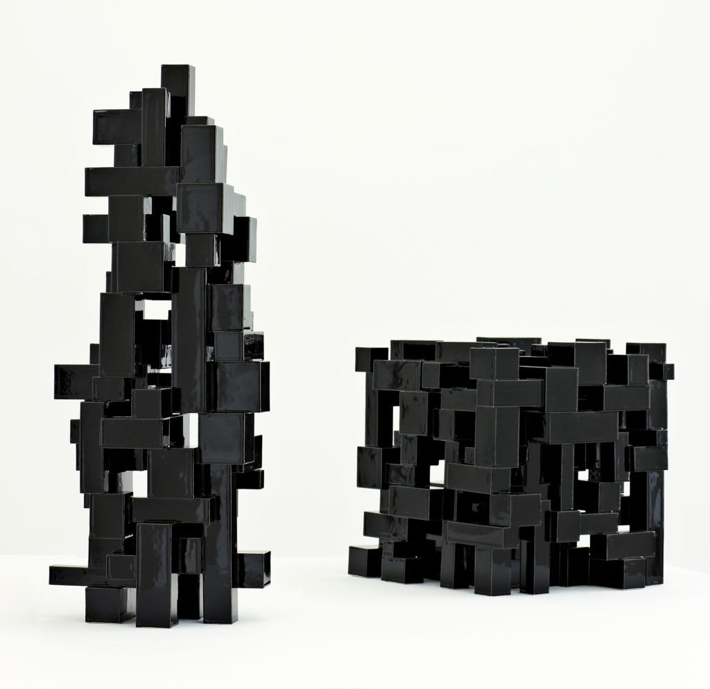 Black Geometric 8+9/2012 Height 71 cm.