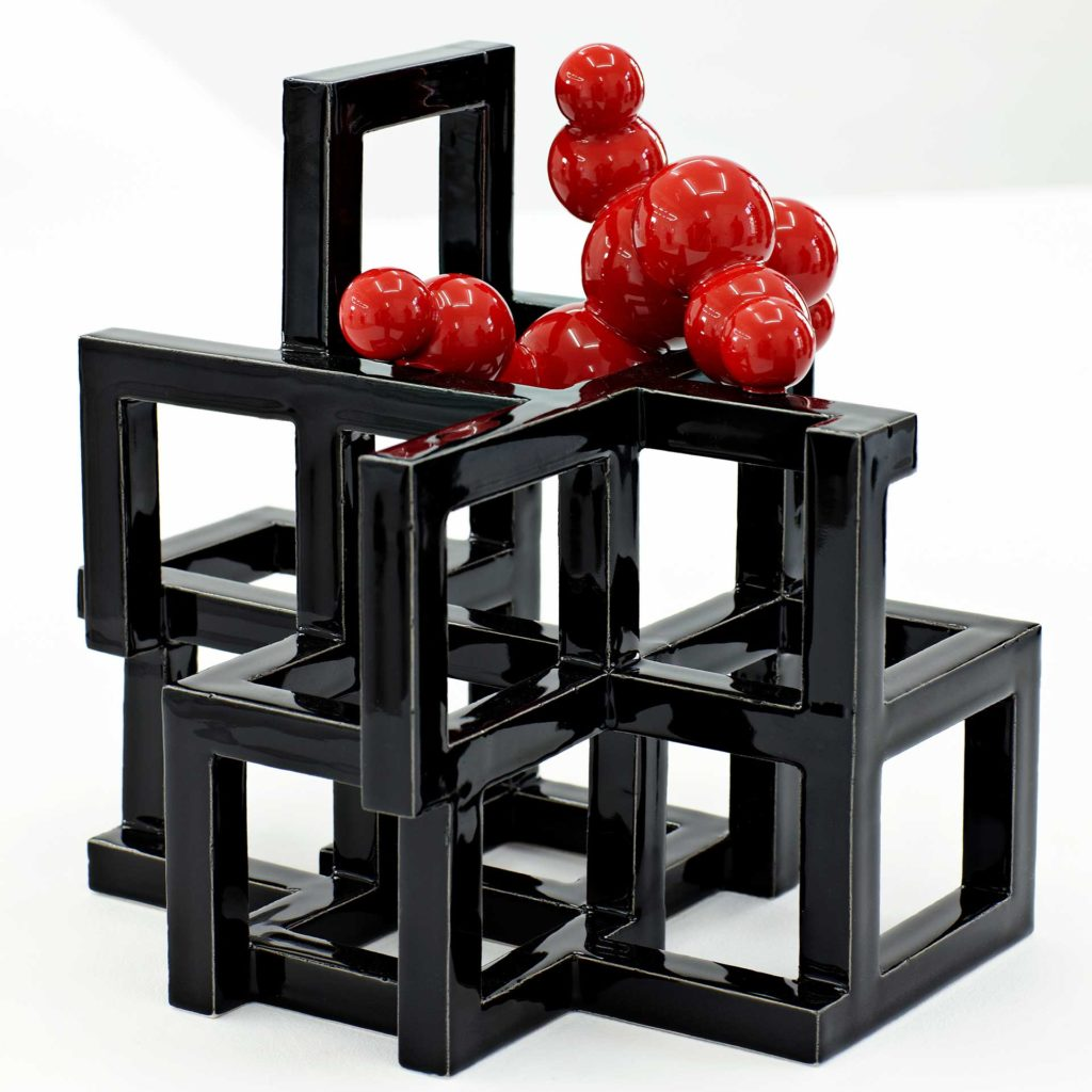 Black/Red Geometric 2/2012 Height 24 cm.