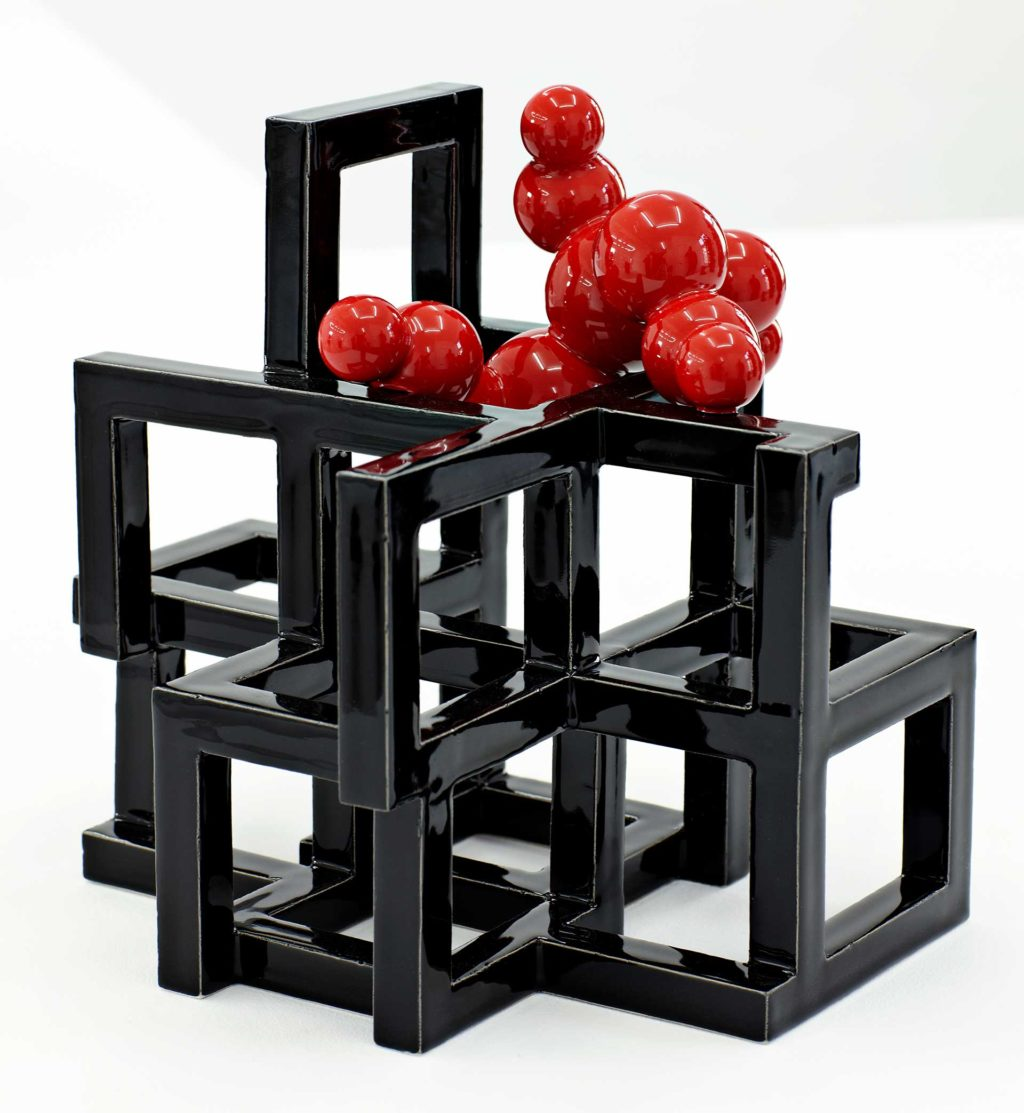 Black/Red Geometric 2/2012 Height 24 cm.